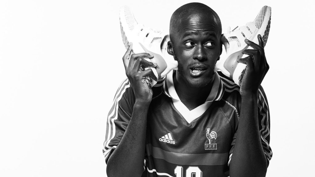 Cherif Gueye with shoes