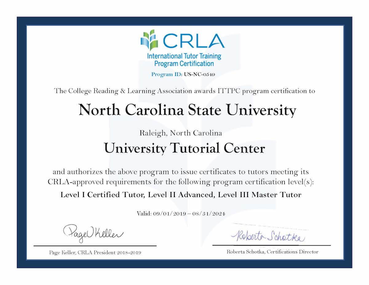 CRLA Stage Three Certification Certificate