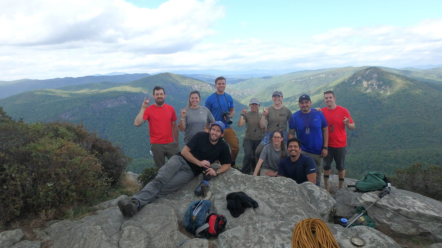 Veterans celebrate scaling a local mountain