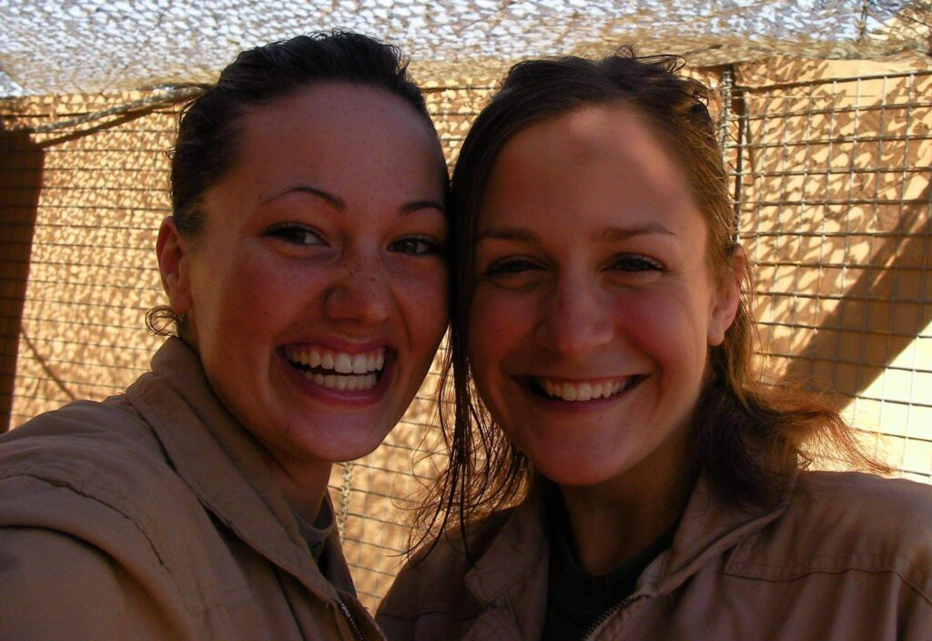Trista Acebo and another female Marine