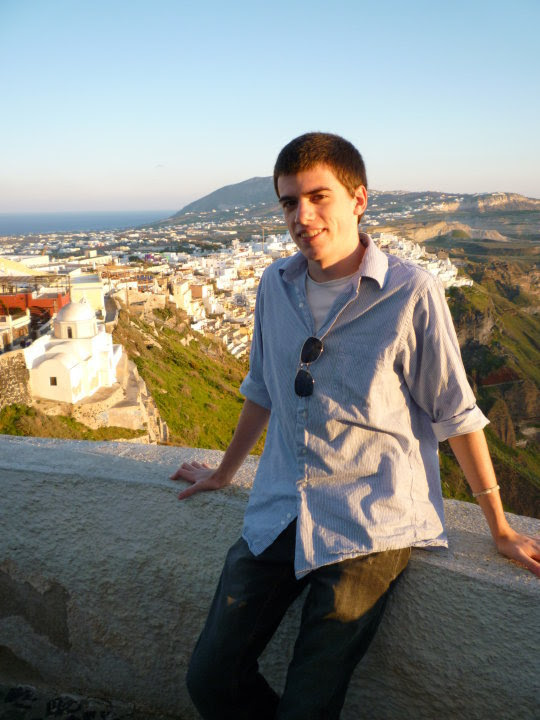 Chris Tomso as a student in Greece