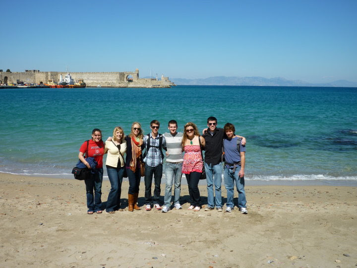 Chris Tomso and his classmates in the University Scholars Program during a study abroad trip