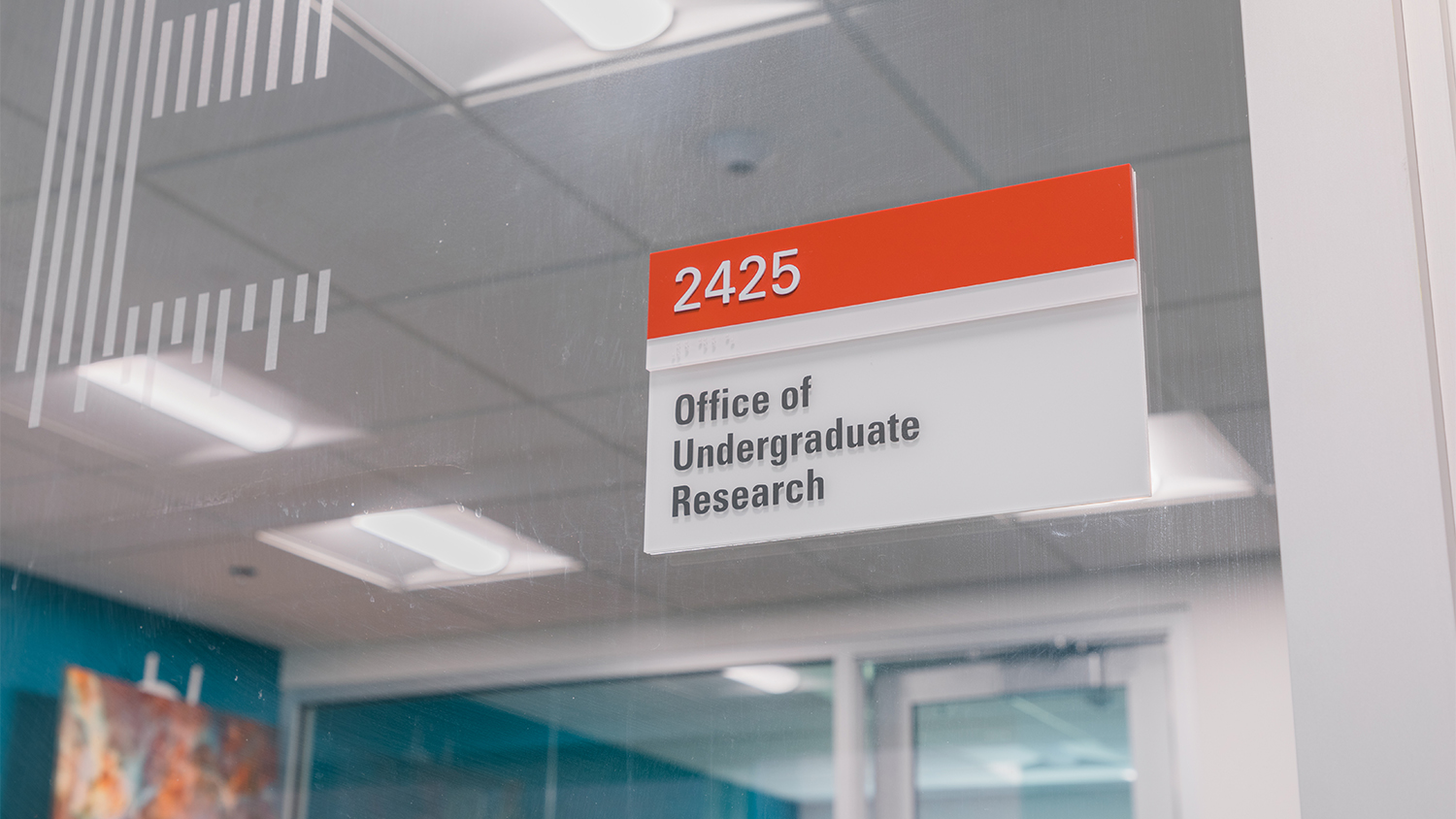 Sign for the Office of Undergraduate Research