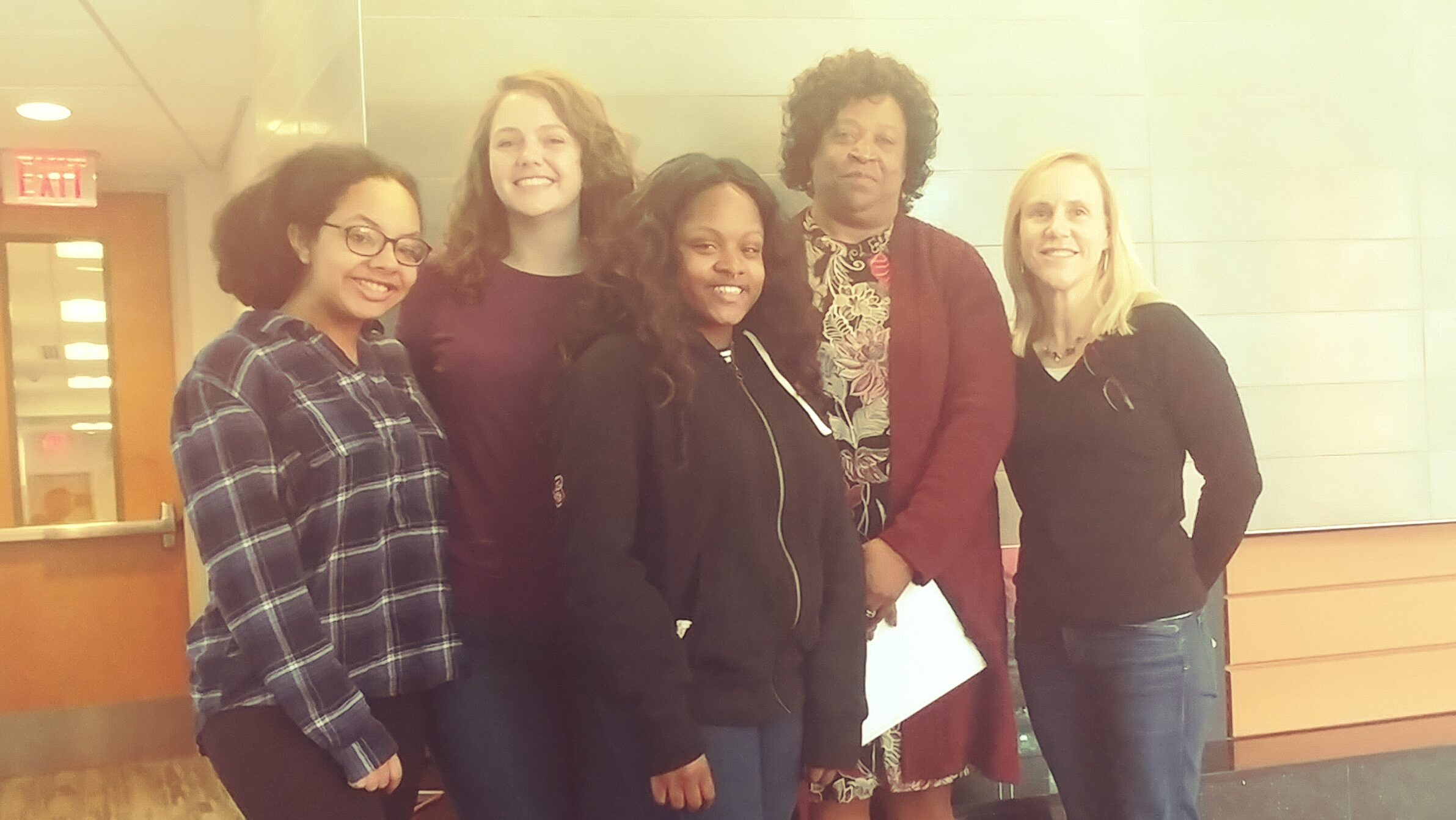 Dr. McLean serves as a mentor for the Chancellor's Leadership Development Program. Pictured is her mentee group (l-r) Manika Hemmerich, Kalynne Turner, Jai'Lynne Wilburn, Dr. McLean, Dr. Heather Patisaul (the other group mentor).