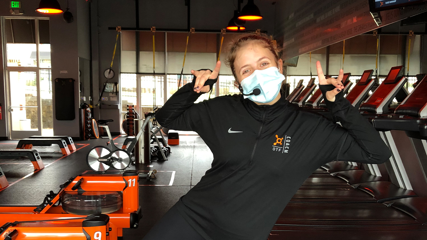 Lauren Muir in the gym at Orangetheory Fitness