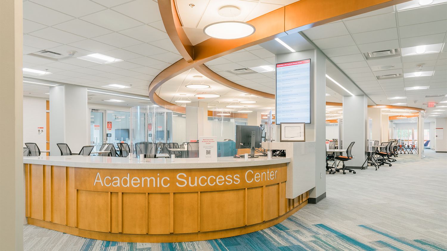 The main desk of the Academic Success Center