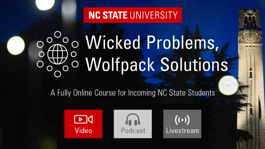 Graphic for the Wicked Problems, Wolfpack Solutions class