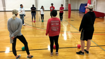 NC State Students playing diversity dodgeball