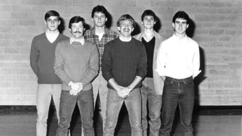 Team photo of ABC - 1983 Intramural Basketball Champs