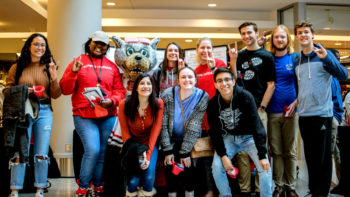 Students at Giving Tuesday Event