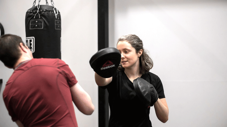 Student teaching advanced boxing