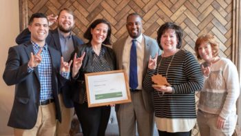 NC State University Housing staff members hold award