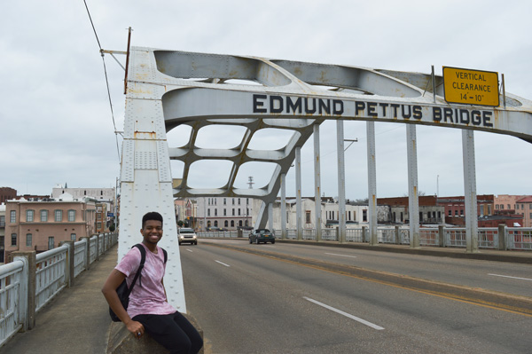Student on Edmund Pettus Bridge