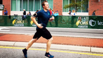 Ben Strunk at City of Oaks Marathon