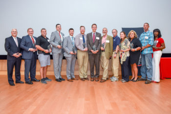 2019 NC State Award of Excellence winners stand side-by-side in a group photo