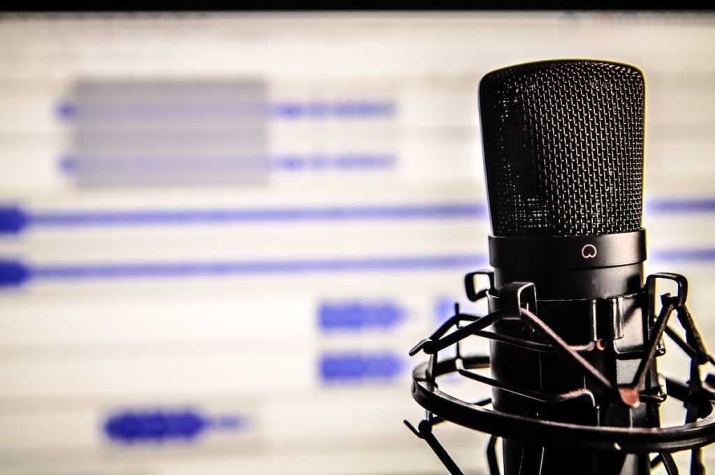 Stock image of microphone