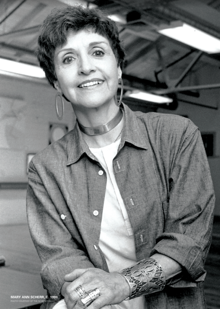 MARY ANN SCHERR, C. 1990. PHOTO COURTESY OF THE SCHERR COLLECTION.