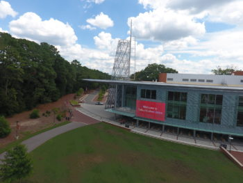 Talley Student Union from the air