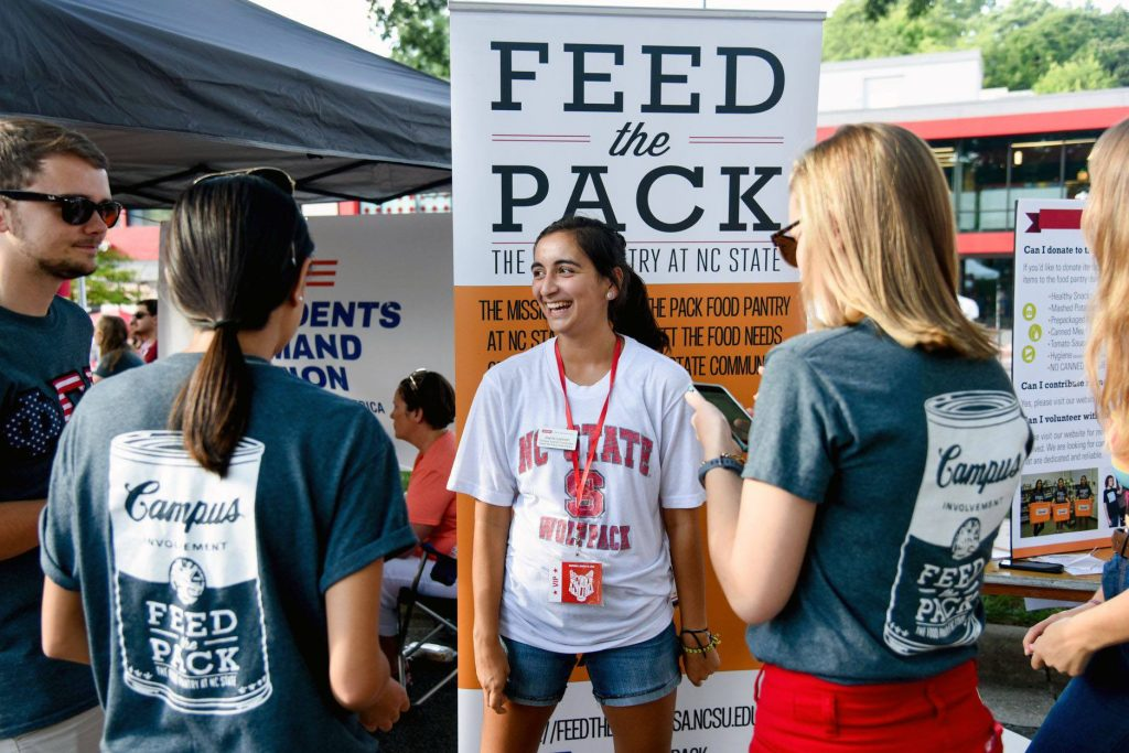 Jayna Lennon working an event for Feed the Pack