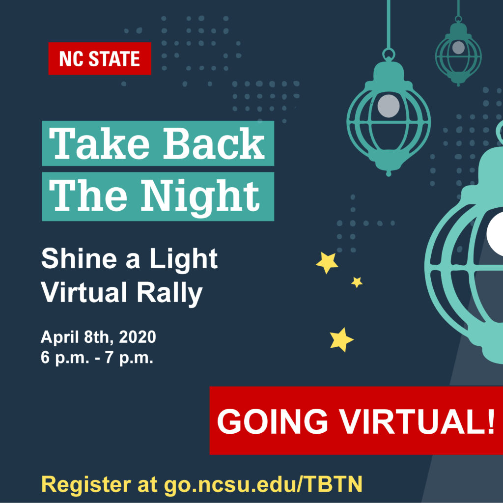 Poster for Take Back the Night event