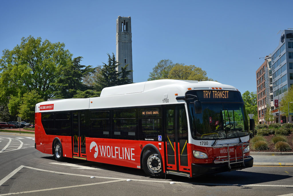 Photo showing a wolfline bus to compliment the attached story.