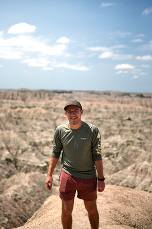 Jarred at Badlands National Park.