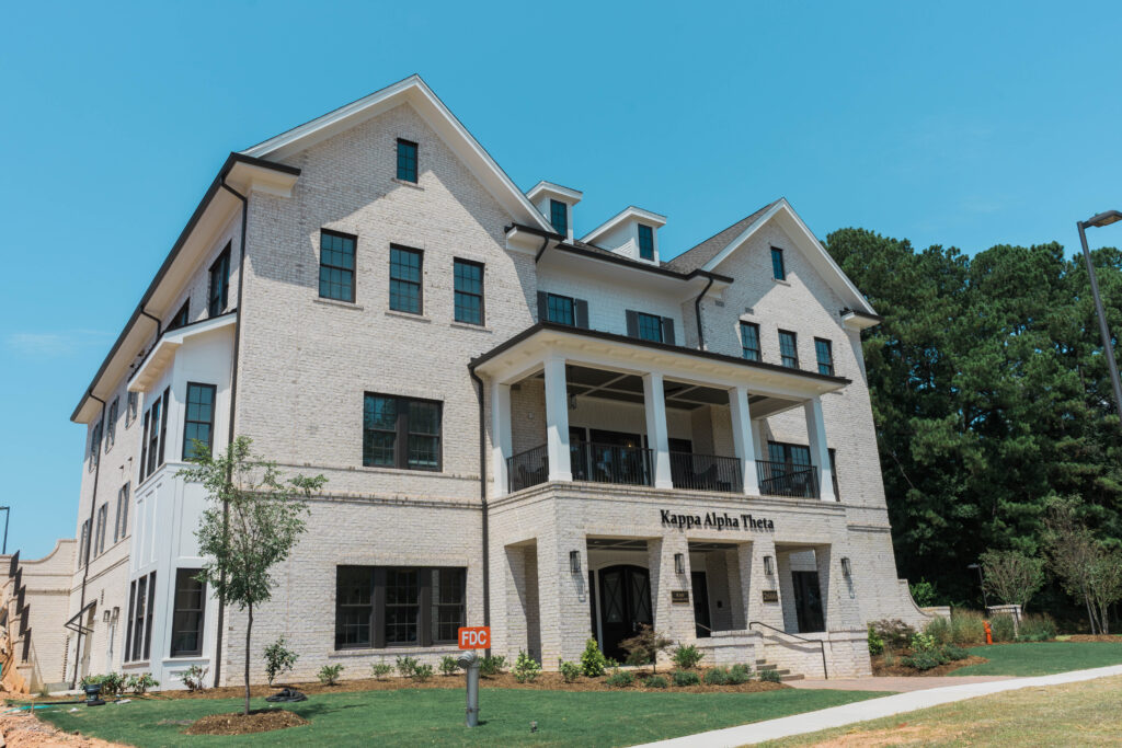 The front of the new Kappa Alpha Theta house